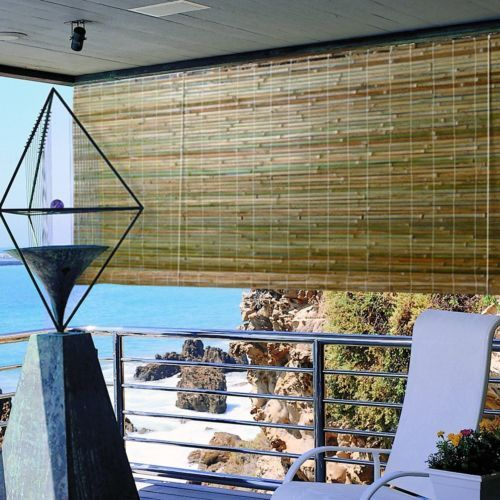 Details About Bamboo Window Sun Shade Roll Up Blinds