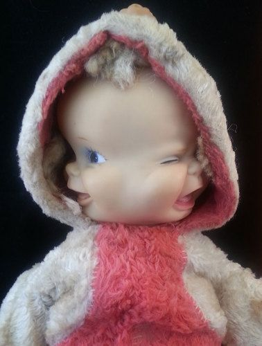 Rare 1950 S Vintage Ideal Magic Face Baby Doll You Get