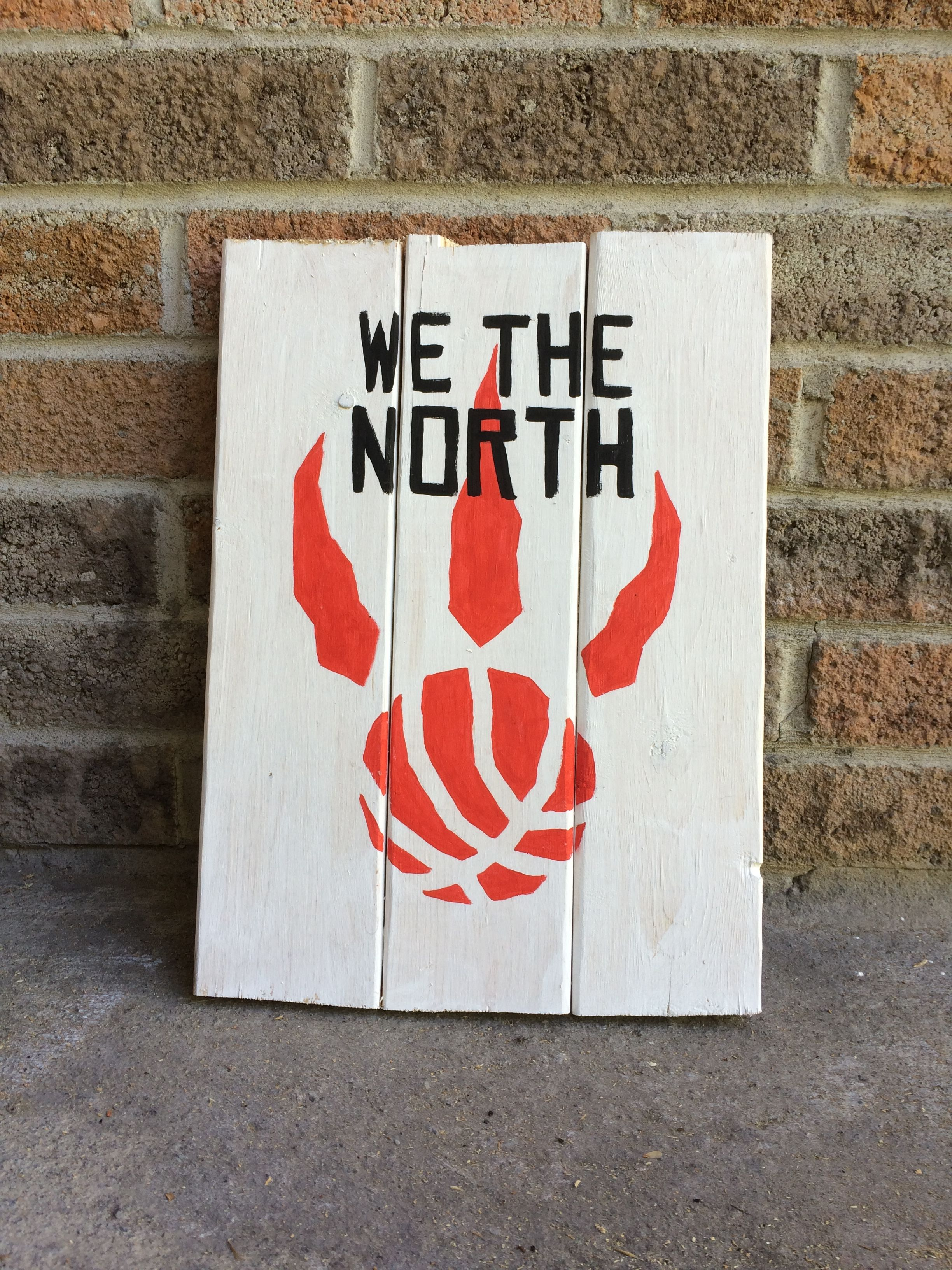 653aa9ac1a3 Toronto Raptors Basketball Logo We the north painted wood sign for man cave