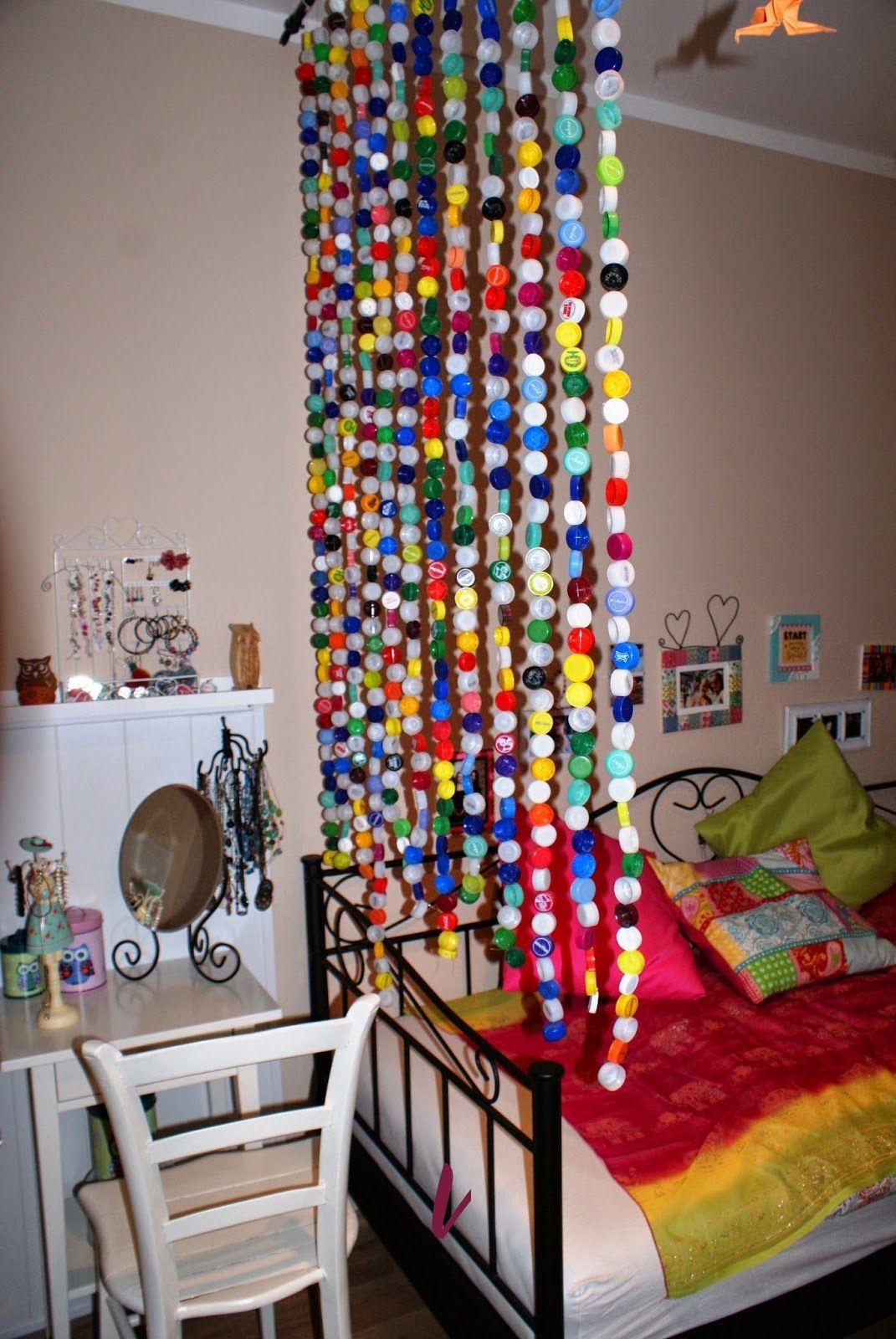 Upcycling: Stöpselvorhang als Raumteiler - Wohnaccessoire