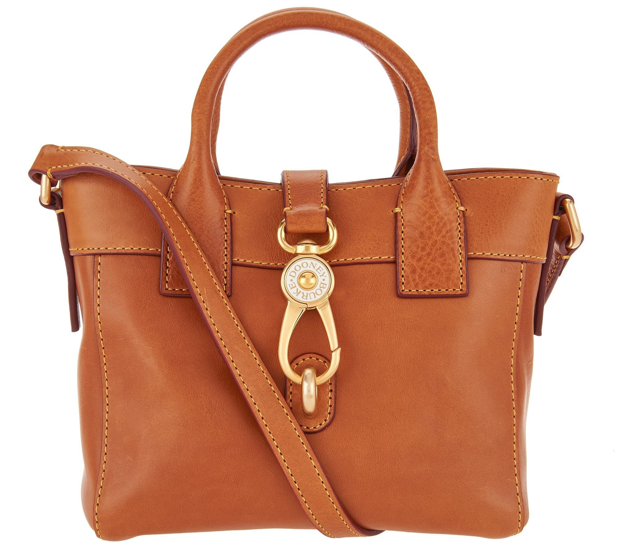 Dooney Bourke Florentine Leather Small Tote Handbag Amelia Page 1 Qvc