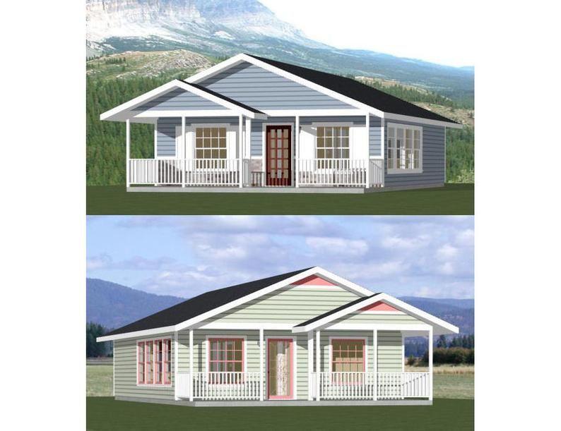 26x34 House 1Bedroom 1Bath 884 sq ft PDF Floor Plan