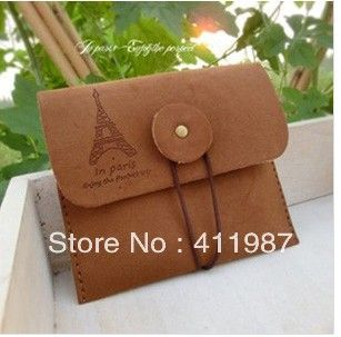 Encontrar Más Monederos Información acerca de Envío libre encantador clásico Torre Eiffel carpeta cero  brown.bs0063 retro, alta calidad monedero bolsa, China cartera de cuero Proveedores, barato la cartera de cremallera de China Novelty Products wholesale Co., LTD en Aliexpress.com
