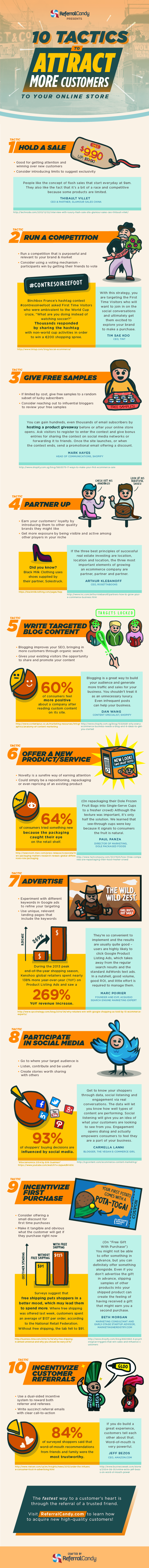 10 Tactics To Attract More Customers To Your Online Store #infographic