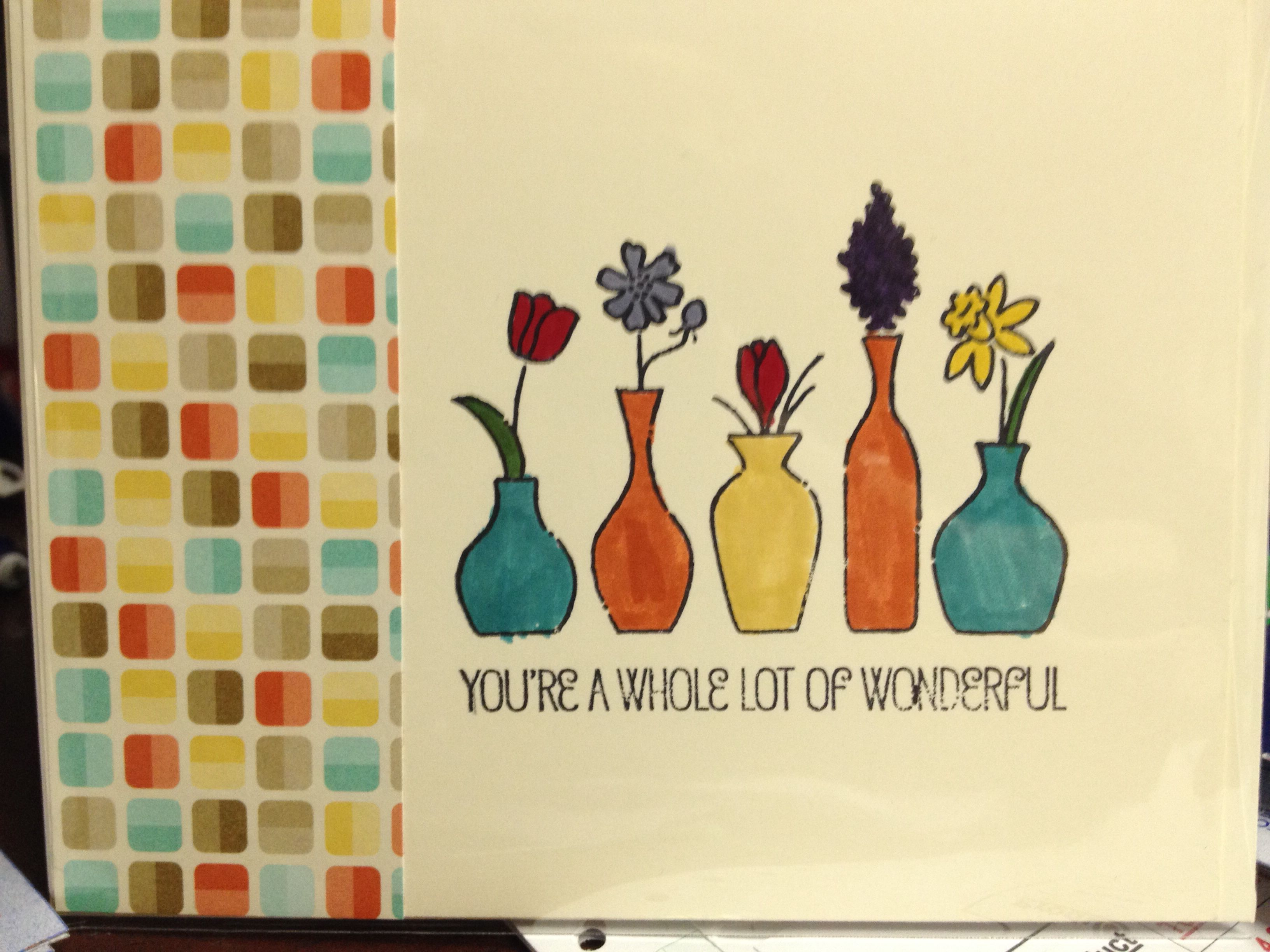 Stampin Up! Vivid Vases Stamp.  Http://bmendenhall.stampinup.net.