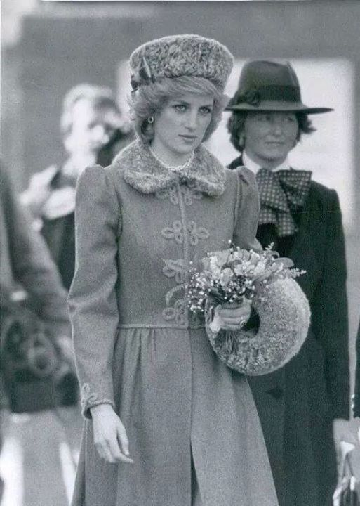 March 5, 1985: Princess Diana at the King's Troop Royal Horse Artilery, St John's Wood, London.