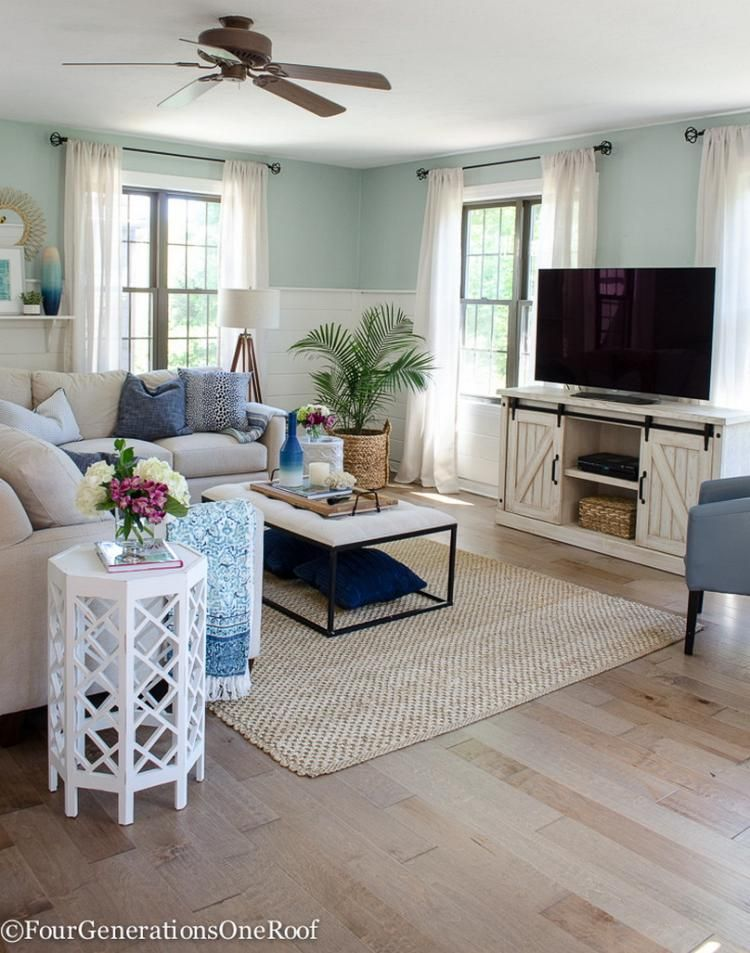 60+ Awesome Farmhouse Living Room Design Ideas Living Room Ideas