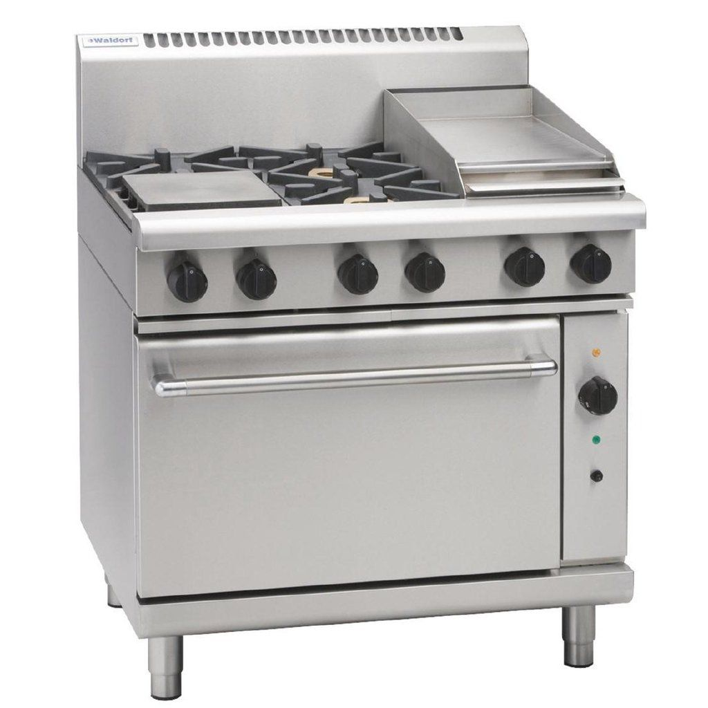 Waldorf By Moffat 4 Burner Oven With Griddle Plate Lpg Commercial Ovens Oven Range Gas Oven