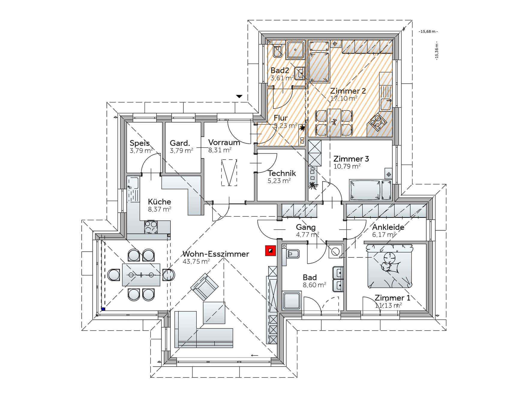 bildergebnis f r grundrisse bungalow 140 qm bungalows pinterest bungalow. Black Bedroom Furniture Sets. Home Design Ideas