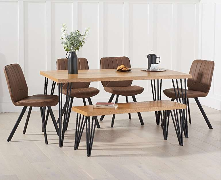 Astonishing Retiro 160Cm Dining Table With Dexter Faux Leather Chairs Creativecarmelina Interior Chair Design Creativecarmelinacom