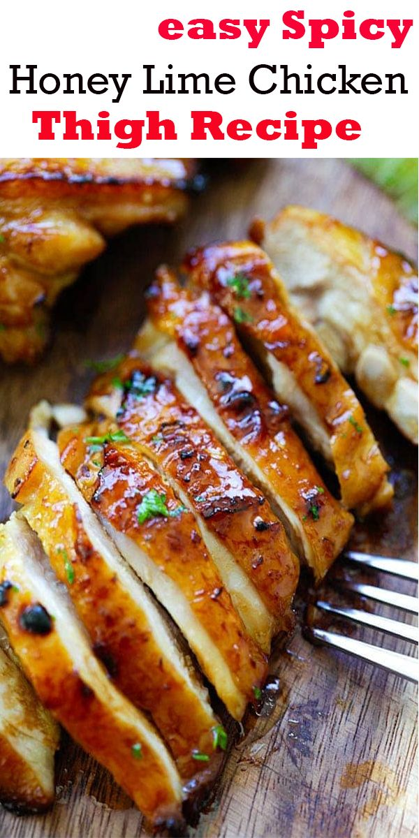 easy Spicy Honey Lime Chicken Thigh Recipe images