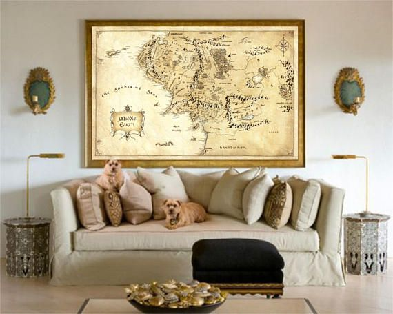 Lord Of The Rings, Middle Earth Map, The Hobbit, Home Decor, Lord Of ...