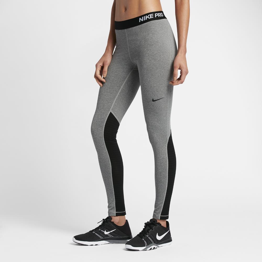 Nike Pro Warm Women's Training Tights Size Medium (Grey