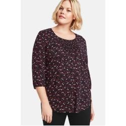 Photo of Samoon Tunika mit Allover-Print Schwarz Damen Gerry Weber