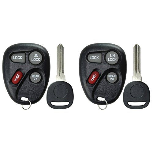 Red KeylessOption Keyless Entry Remote Key Fob Replacement for 10443537