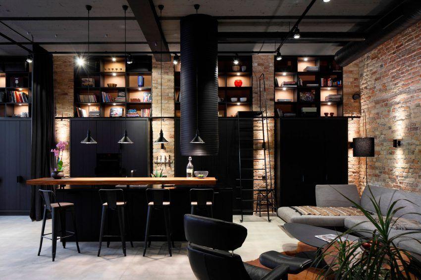 Design Apartments Riga Decor Open Ad  Architecture And Design Creates An Industrial Chic .