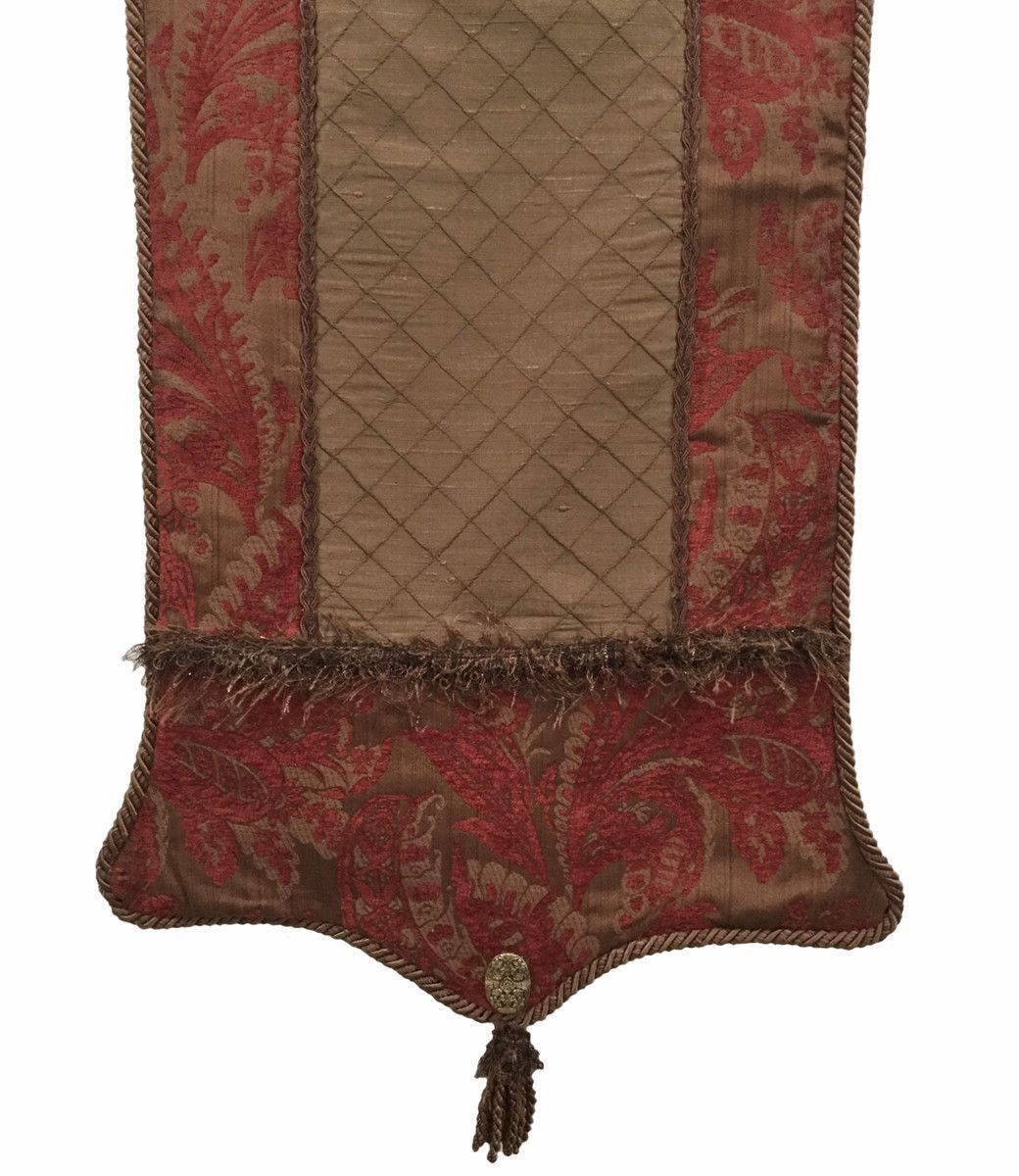Brown And Red Table Runner   Reilly Chance Collection   Reilly Chance  Collection