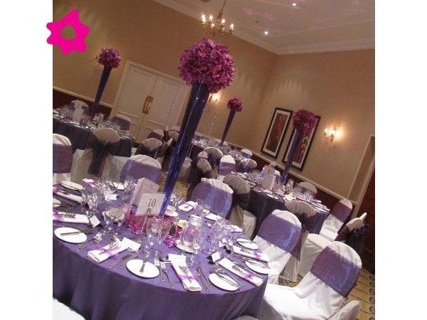 Combinaci n de boda de color morado con rosa decoraci n - Combinacion de colores para salones ...