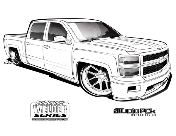 Crewd Coloring Page Truck Coloring Pages Car Drawings Cool Car Drawings