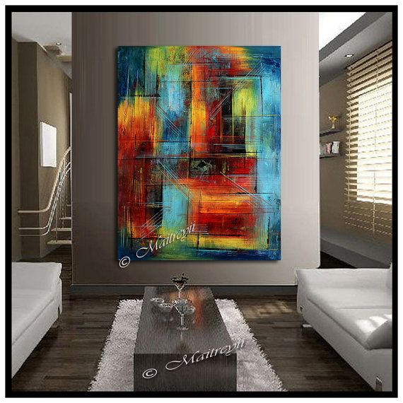 Modern Abstract 100 Hand Painted Art Oil Painting Wall Decor Canvas Ready To Hang Original Paintings Artwork And