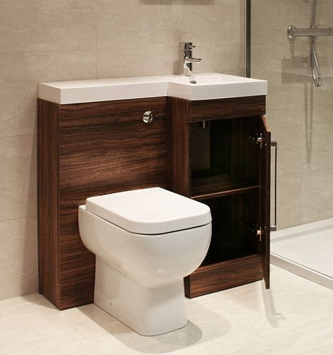 Combination Toilet Sink Mirror Cabinets And Small Bathroom