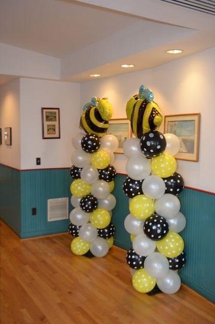 balloon columns columnas de globos!!!! BEE