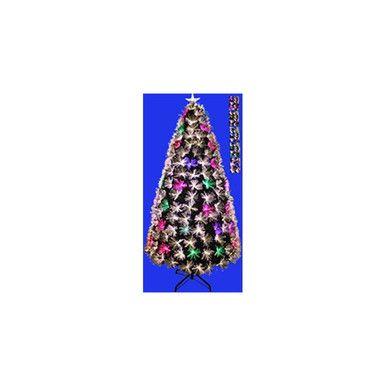 4ft fiber optic christmas tree in warm white multi