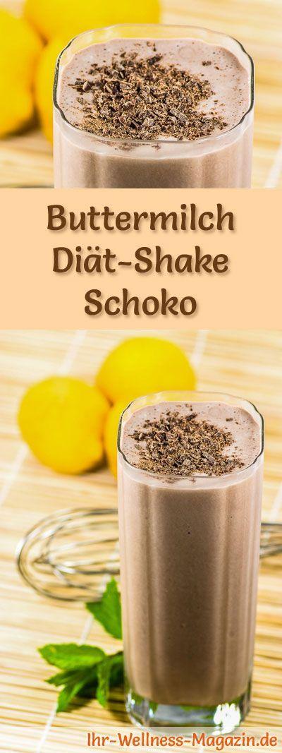Buttermilch-Schokoshake - Diät-Shake-Rezept mit Buttermilch #healthychocolateshakes