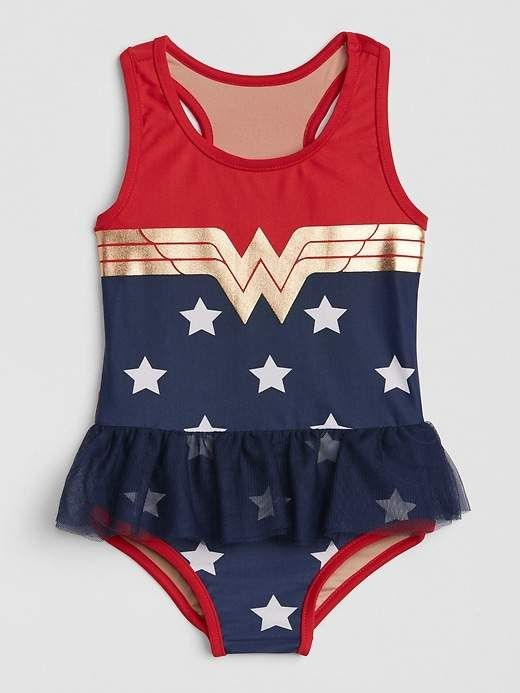 Gap Babygap Dc Wonder Woman Swim One Piece Products Baby