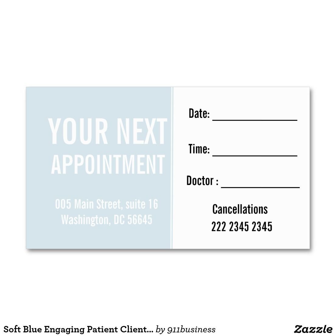 Delicate Patel Blue Appointment custom business card. Dual side with ...