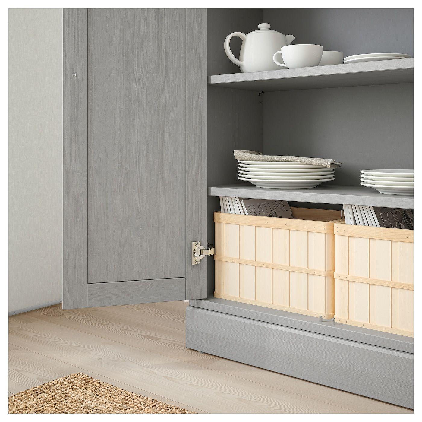 Havsta Schrank Mit Sockel Grau Skandinavisches Design Schrank