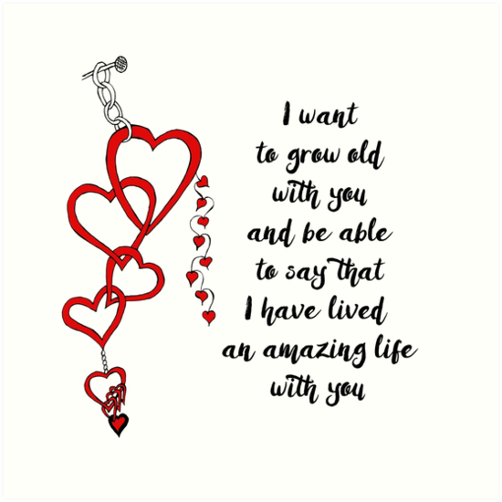 Chained Heart For Valentine S Day By Cynthiacabello I Want To Grow Old With You And Be Able To Say T Valentines Day Quotes For Him Valentine Quotes Love Quotes