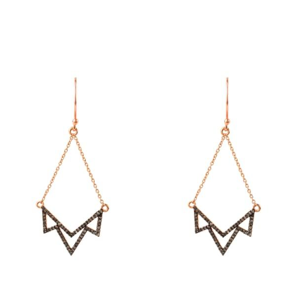 Latelita London Diamond Lotus Earring Rose gold 5sbOt5G