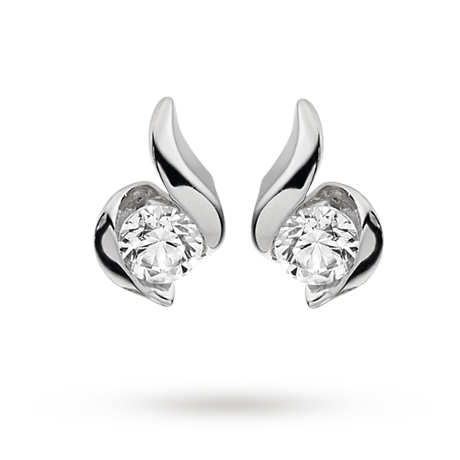 9ct White Gold 0 17ct Wred In Love Diamond Earrings Diamonds Goldsmiths