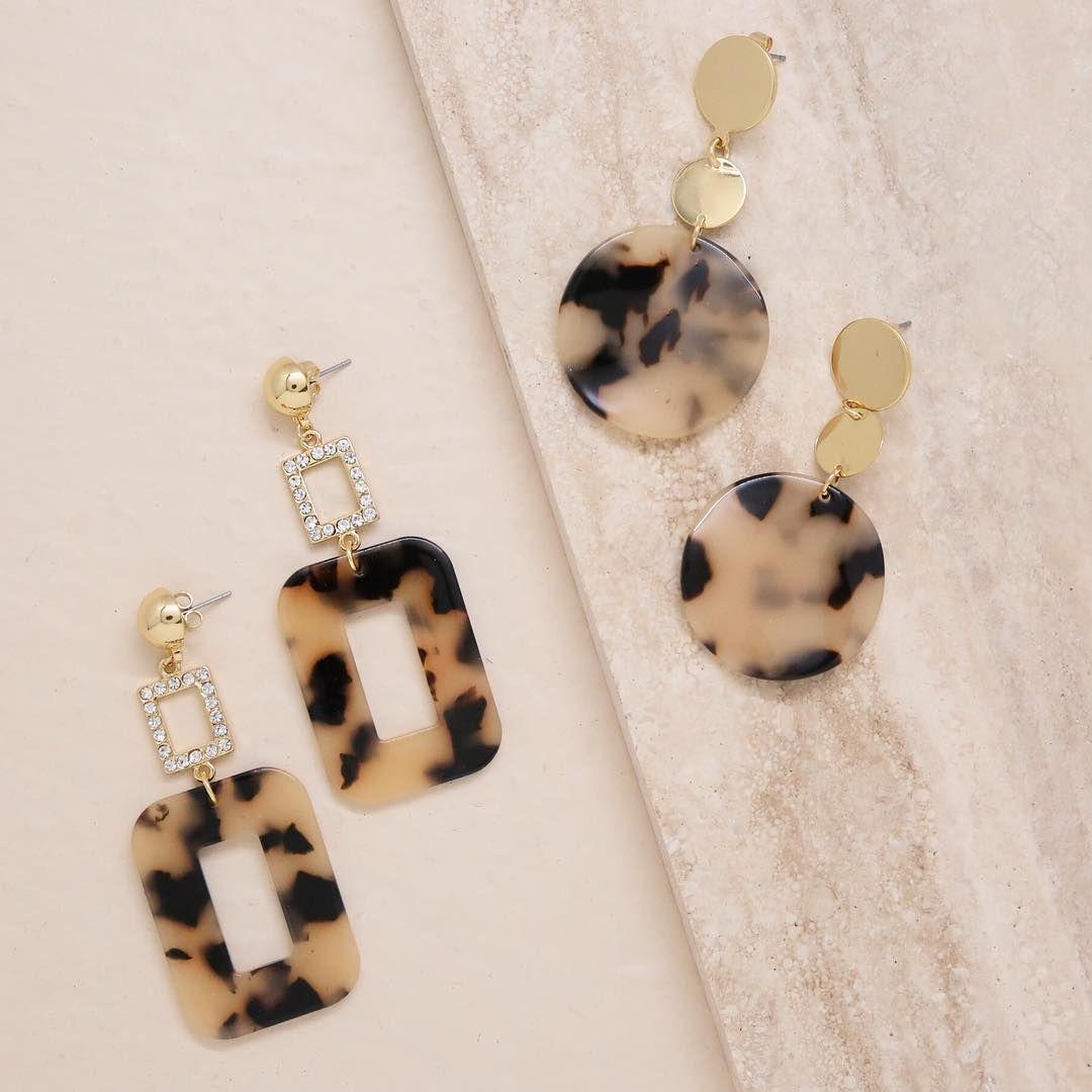 The Trenst Earring Styles For Fall Our Latest Tortoise Resin Earrings Now Online