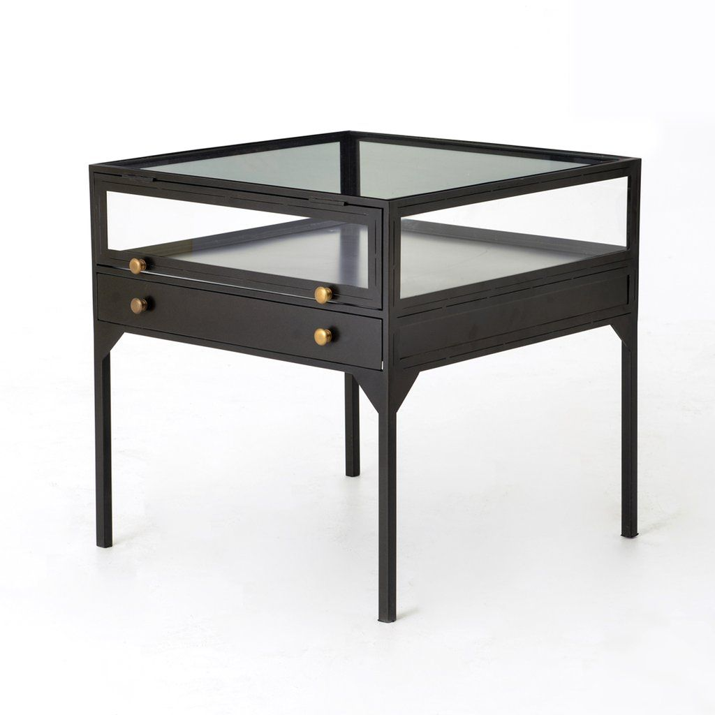 Orso Shadow Box End Table In Black Shadow Box Coffee Table End Tables Table