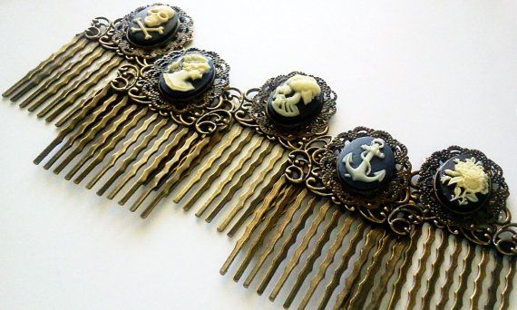 New cameo hair combs that are in glamasaurus.etsy.com