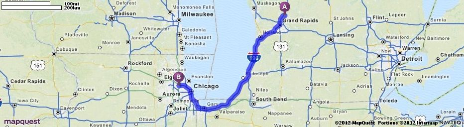 Driving Directions From Rockford Michigan To Chicago OHare - Airports in michigan