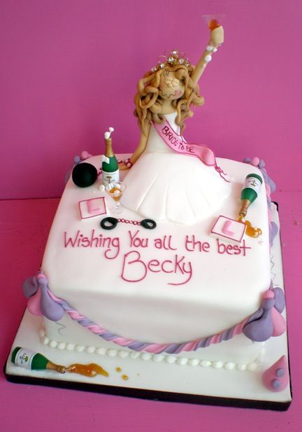 Hen Night Cake With Images Bachelorette Party Cake Hen Party