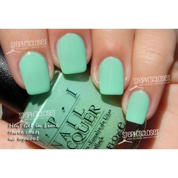 Mint Green Nail Polish for the Holidays | nail obsession | Pinterest