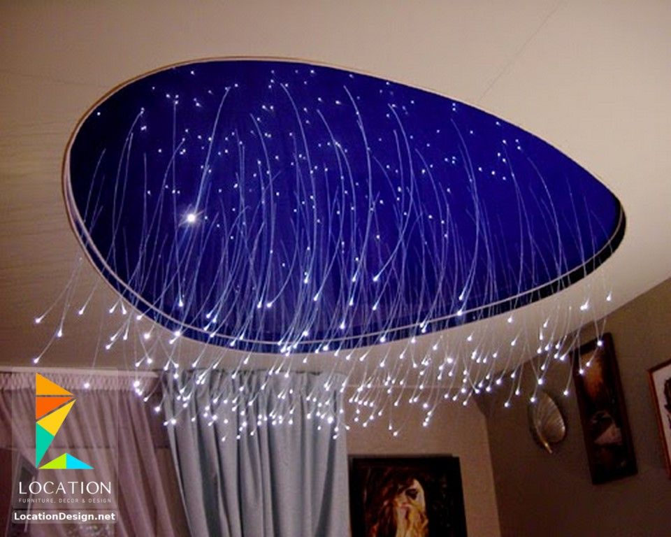 احدث افكار ديكور جبس اسقف الصالات و الريسبشن 2017 2018 Star Ceiling Fiber Optic Ceiling Ceiling Lights