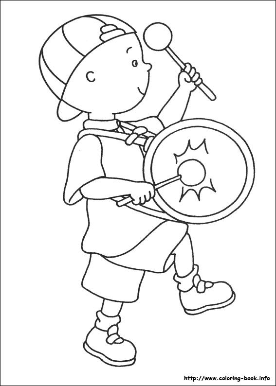 Caillou Coloring Picture My Coloring Book Coloring Pages For