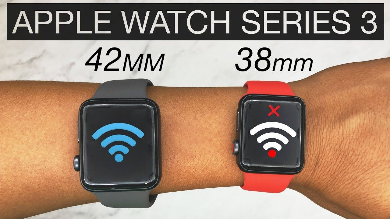 Apple Watch Series 3 Review 38mm Vs 42mm Battery Life 38mm Wifi Issue 4k Youtube Apple Watch Apple Watch Series Apple Watch Nike
