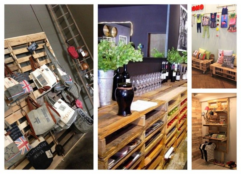 Como decorar una tienda con palets Pallet projects Pinterest