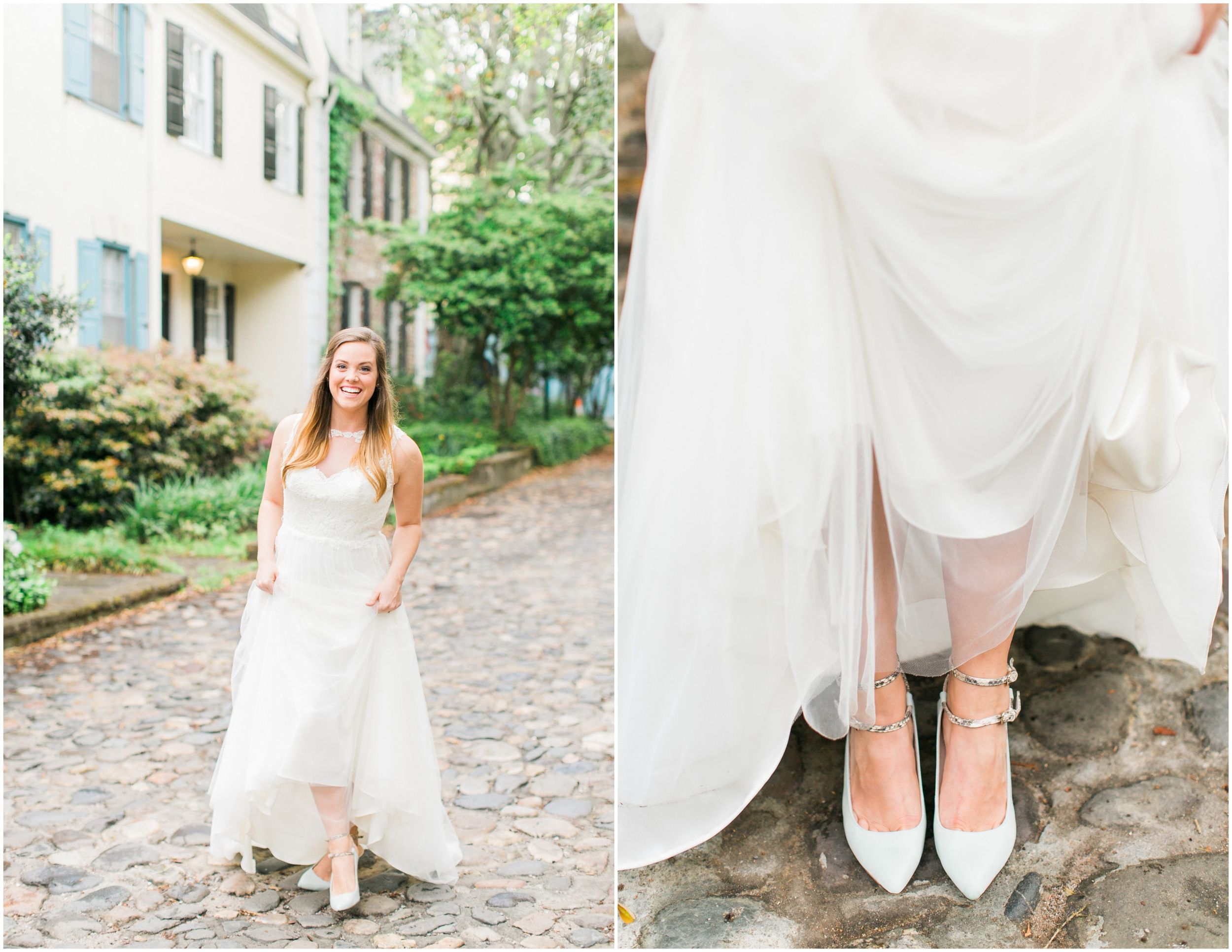 Jessi Nichols Photography // tulle skirt wedding gown // Rainbow Row ...