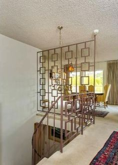 The chic technique mid century modern room partition and stair railing in gold geometric also best partitions images rh pinterest