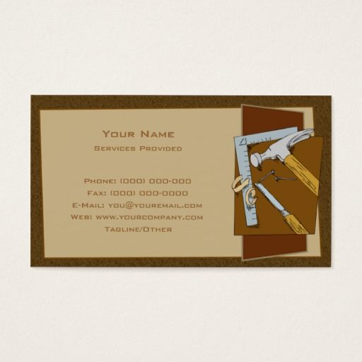Carpenter Business Card Zazzle Com Cards Printing Double Sided Business Cards
