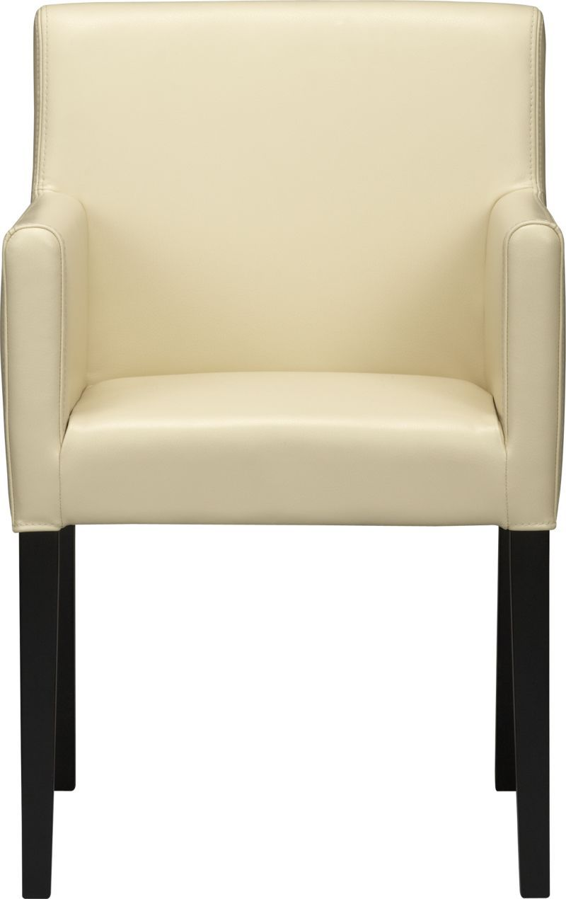 Lowe Ivory Leather Dining Arm Chair New House Furniture