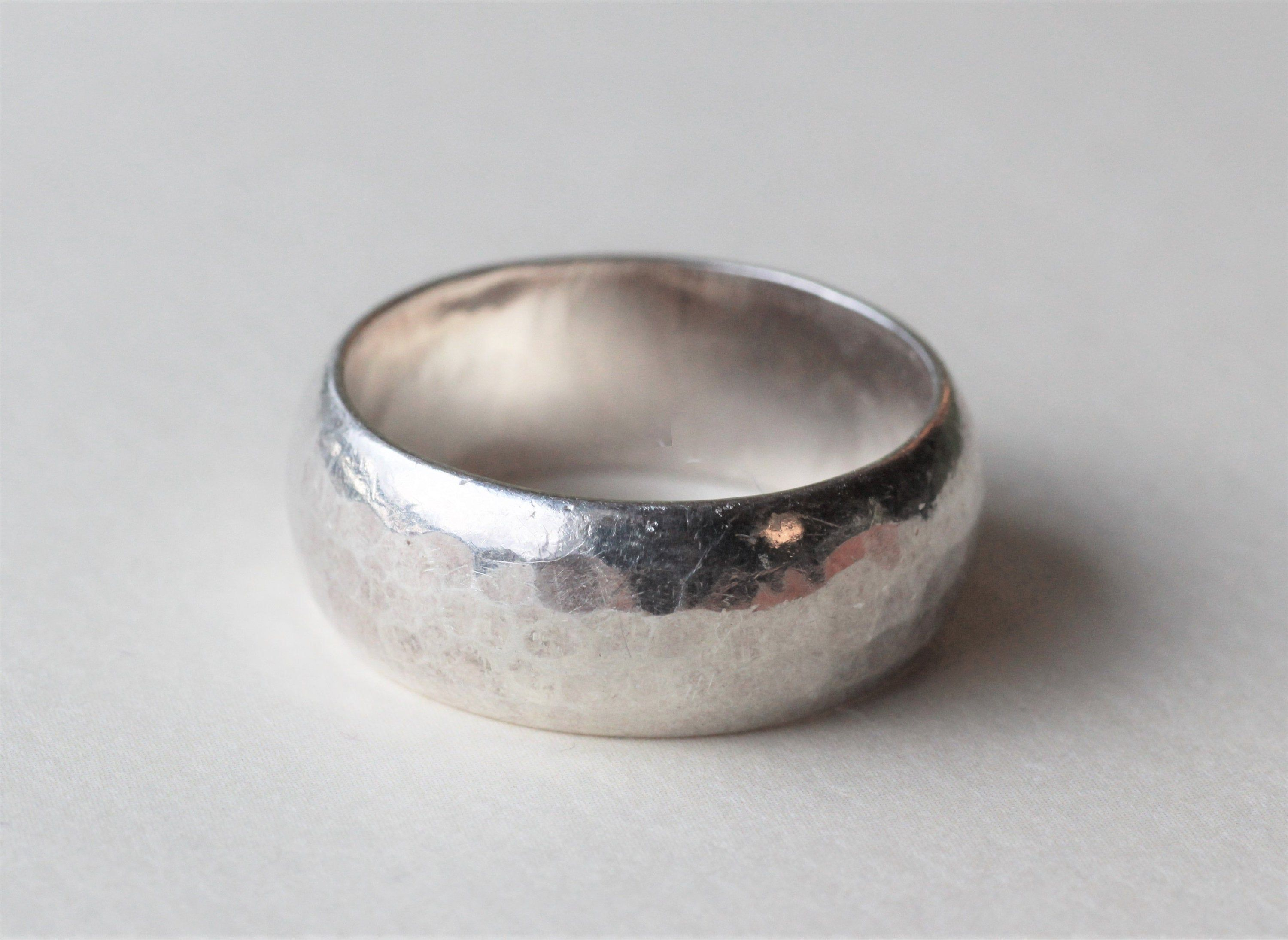Juhls Silver Gallery Kautokeino Norway Vintage Modernist Etsy In 2020 Hammered Band Ring Silver Hammered Band