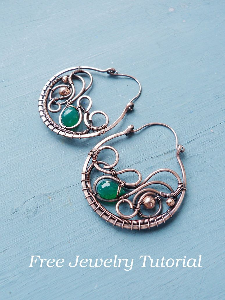 DIY project - Large earring tutorial by UrsulaJewelry | Wire ...